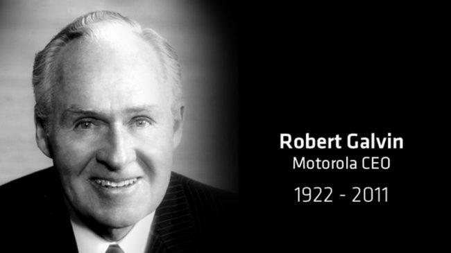 In Memory of Bob Galvin